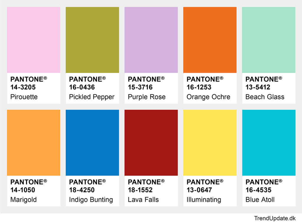Fashion colors sprint summer 2021